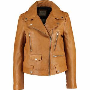EACH OTHER Women Brown Biker* SHEEP LEATHER * Jacket Sz: M, L (uk10, 12)rrp:£860