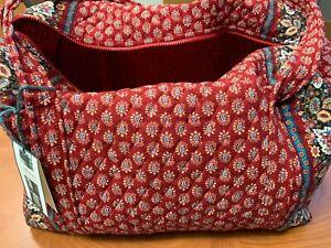 Vera Bradley Talbots Red Duffle Bag L New w/ Tags Pet & Smoke Free Retired Rare