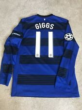 MANCHESTER UNITED AWAY SHIRT 2011/12 MEDIUM (M) GIGGS 11 ADULTS CHAMPIONS LEAGUE