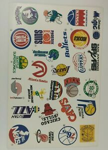 Vintage NBA Team Logo Stickers USA Basketball Retro Decal Old School 90'S Vinyl