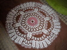Beautiful Lacy Floral Hand Crocheted Doily NEW HI-82