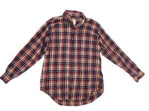 Mens Brooks Brothers Original 346 Polo Shirt Button Up Large Red Plaid