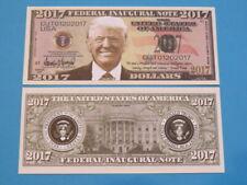 2017 DONALD TRUMP: US President $1,000,000 Novelty Million Dollar Inagural Note