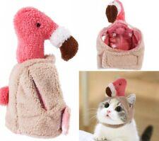 Flamingo Cat Hat Plush Creative Dress Up Costume Cap Headdress for Pet Kitten