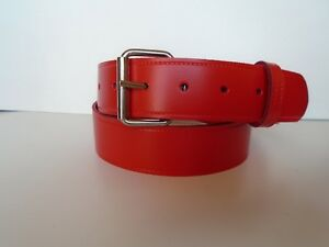 FLAME RED LEATHER JEAN BELTS SLIGHT SECONDS FOR MEN AND WOMEN SMALL TO XXL £4.99