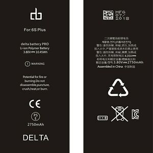 100%Original Quality Replacement Apple iPhone 6S Plus Battery by deltabatteryPRO