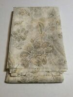 White, Grey  and Gold Paisley & Floral Sheer Home Decor Fabric 3 2/3 Yards