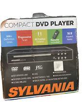 Sylvania Compact Dvd Player Dvd-R, Rw Audio Cds Jpeg Viewer Lnc w/ Box & Remote