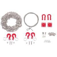 3pcs RC Crawler Metall Abschleppöse Anhängerkette Werkzeugkasten für Traxxas HOT