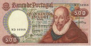 "Portugal 500 Escudos Banknote,4.10.1979 Choice Uncirculated P#177-A""F.Sanches"""