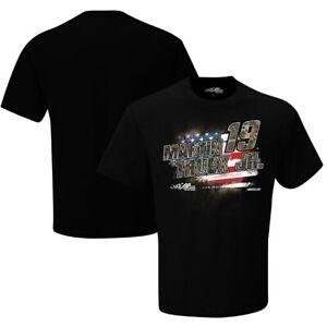 Martin Truex Jr. #19 Nascar 2021 Men's Black Camo Patriotic Shirt 1-Sided XL