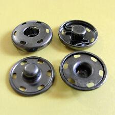 4 Pernos de prensa de piezas Sujetadores Negros Botones Snap conjunto con tapones de color 15mm Manualidades