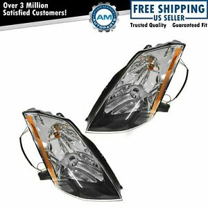 HID Xenon Headlights Headlamps Left & Right Pair Set For 2003-2005 Nissan 350Z