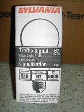 24 Traffic Signal light bulbs, 67 Watt, 8000 hrs, Clear 67A21/40/8M 130V
