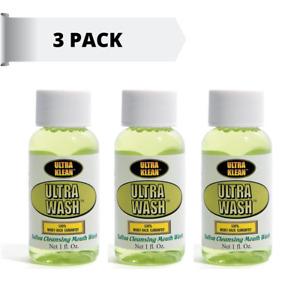 Ultra Klean Ultra Wash Saliva Cleansing Mouthwash : Cheapest 3 pack  on Ebay