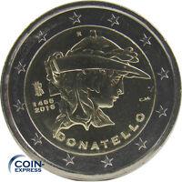 *** 2 EURO Gedenkmünze ITALIEN 2016 550. Todestag Donatello Coin KMS Italy ***