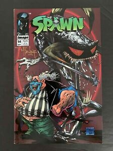 SPAWN #14 IMAGE COMICS 1993 VF SIGNED BY TODD MCFARLANE