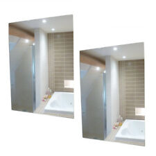 2 PACK  A4 PLASTIC WALL MIRROR TILES ANTI SHATTER SAFETY ACRYLIC SHEET ADHESIVE