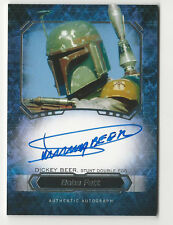 Dickey Beer as Boba Fett 2016 Topps Star Wars Masterwork Autograph Auto Card