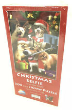 NEW/SEALED 300 Piece Jigsaw Puzzle Christmas Pet Selfie - Art by Tom Wood 28760