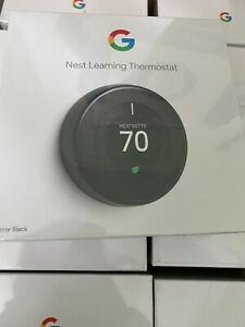 Nest Learning Programmable Thermostat - Mirror Black (T3007ES) [BRAND NEW]