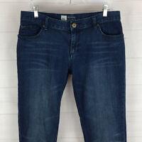 Mossimo womens size 8 stretch blue med-dark wash mid rise skinny boyfriend jeans