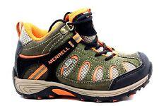 Merrell Chameleon Mid Lace Hiking Shoe Waterproof Olive Orange Little Kid 10.5 W