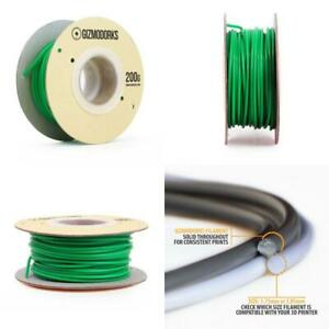 Gizmo Dorks ABS Filament for 3D Printers 3mm (2.85mm) 200g, Green