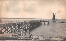 1910's? Dock Harbor Manhasset Bay Yacht Club Port Washington LI NY post card