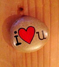 Hand painted rocks, stones, pebbles. Love heart, valentines, birthday gift idea.
