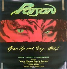 RARE POISON OPEN UP AND SAY AHH 1988 VINTAGE MUSIC RECORD STORE PROMO POSTER