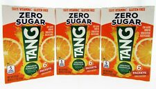 TANG Orange Naranja ~ 6 Packets ~ Sugar Free ~ Drink Mix ~ Lot of 3
