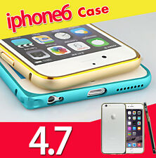 "Elegante in Lega di Alluminio Paraurti Telaio HARD SHELL CASE COVER PER 4,7 ""iPhone 6 UK"