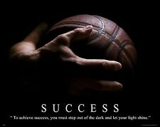 Basketball Motivational Poster Art Print Success NBA Kids Shoes Jersey   MVP468