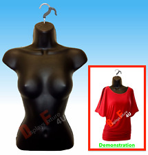 New Female Mannequin Form & Hook,Trade Show Display Dress,Crop Top Shirt - Black