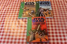 3 LIVRES star wars the clone wars (bibliotheque verte) LE 1 3 ET 7