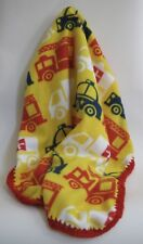 Baby Toddler BLANKET Throw Fire Truck Police Car Ambulance Crocheted Trim Edge