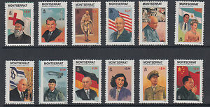 Montserrat Sc 933-945 MNH. 1998 Famous People of the 20th Century + Souv Sheet