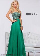 Sherri Hill 1539 Emerald/Green Dress - size 6