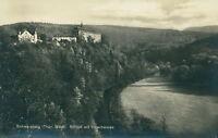 Ansichtskarte Schwarzburg Thür. Wald Schloß mit Hirschwiese (Nr.795)