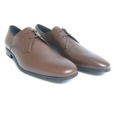 P-1006201 New Salvatore Ferragamo Fortunato2 Brown Pebble Lace Shoe US 7.5D