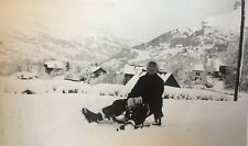 Photographie Saint-Gervais-les-Bains, Mont Blanc, Haute-Savoie (74) Luge Ski