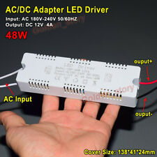 AC-DC Converter AC 220V 230V 240V to DC 12V 4A LED Driver Adapter Transformer