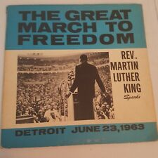 Martin Luther King speaks, March to Freedom vinyl Detroit 1963