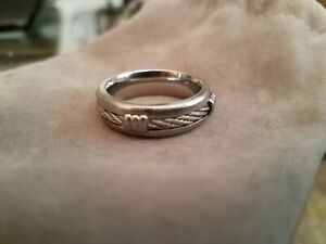 Triton Stainless Steel Cable Rope Band Ring 7mm mens wedding band