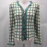 St John Blue Knit Jacket 4