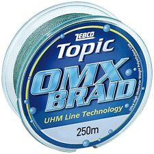 Zebco 0.35mm,25.5kg 250M,Topic Omx Braid, Line Fishing Equipment RRP £35