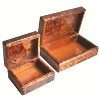 new 2 boxes thuya wood morocco new morocco Jewelry Box Thuya wood Box 2020 gift