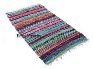 Rug Floor Decor Mat 120x180 Cm & 90x150 Cm Chindi Rug Cotton Hand Woven Area Rug