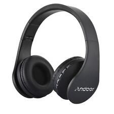 Faltbar Wireless Bluetooth Stereo Bass Kopfhörer Over Ear Headset mit Mic FM MP3